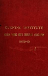 Red colored cover of the 1909-1910 Course Catalog