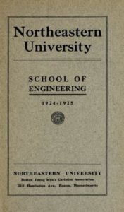 Parchment colored title page of the 1924-1925 School of Engineering Course Catalog