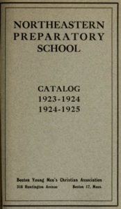 Parchment colored cover of the 1923-1924, 1924-1925 Northeastern Preparatory School Course Catalog