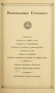 Parchment colored title page of the 1940-1941 Course Catalogs