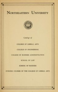 Parchment colored title page of the 1942-1943 Course Catalogs