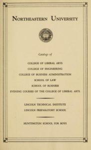 Parchment colored title page for the 1943-1944 Course Catalogs