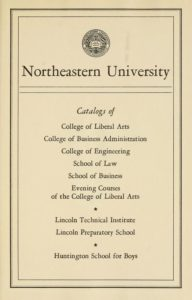 Parchment colored title page of the 1947-1948 Course Catalogs