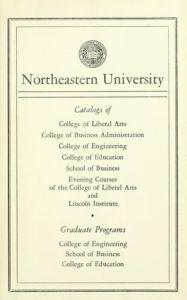 1957-1958 Course Catalogs