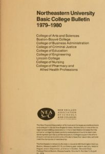 Parchment colored title page of the 1979-198 Basic College Course Bulletin