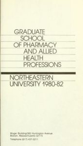 Parchment colored title page of the 1980-1982Graduate School of Pharmacy and Allied Health Professions
