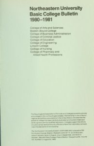 Parchment colored title page of the 1980-1981 Basic College Course Bulletin