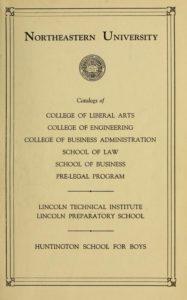 Parchment colored title page of 1938-1939 Course Catalogs