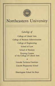 Parchment colored title page of the 1948-1949 Course Catalogs