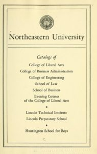 Parchment colored title page of the 1949-1950 Course Catalogs