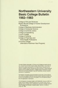 Parchment colored title page of the 1981-1982 Basic College Course Bulletin