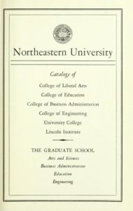 Parchment colored title page of the 1961-62 Course Catalogs