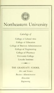 Parchment colored title page of the 1962-63 Course Catalogs