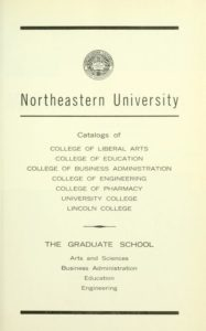 Parchment colored title page of the 1963-64 Course Catalogs