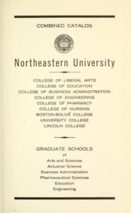Parchment colored title page of the 1964-1965 Course Catalogs