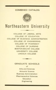 Parchment colored title page of the 1965-1966 Course Catalogs