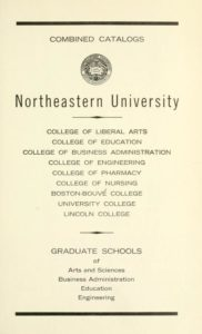 Parchment colored title page of the 1966-1967 Course Catalogs