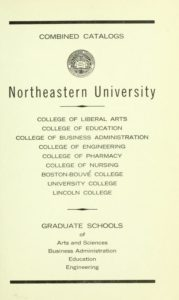 Parchment colored title page of the 1967-9168 Course Catalogs