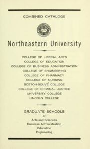 Parchment colored title page of the 1968-69 Course Catalogs
