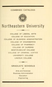Parchment colored title page of the 1969-1970 Course Catalogs