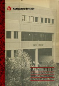 Photographic Illustrated cover page of the 1991-1992 University College Part-time Undergraduate Programs Bulletin