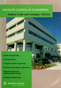 Green and Photographic Print front cover of the 1993-1994 Graduate School of Engineering Course Catalogue