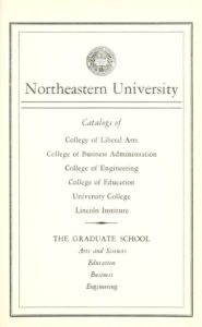 Parchment colored title page of the 1960-61 Course Catalogs
