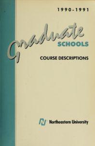 Multi-colored cover page of the 1990-1991Graduate Schools Course Descriptions