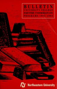 Red colored front cover of the 1992-1993 University College Bulletin for Part-time Undergraduate Programs