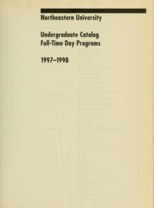 Parchment-colored title page of the 1997-1998 Undergraduate Catalog Full-Time Day Programs