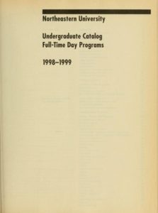 Parchment colored title page of the 1998-1999 Undergraduate Catalog Full-Time Day Programs