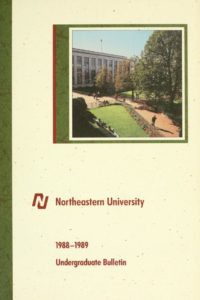 Photographic and Graphic Illustrated cover of the 1988-1989 Undergraduate Bulletin