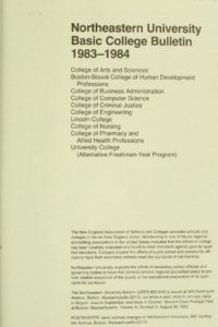 Parchment colored title page of the 1983-1984 Basic College Course Bulletin College of Arts and Sciences