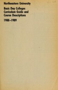 Parchment-colored title page of the 1988-1989 Basic Day Colleges Curriculum Guide and Course Descriptions