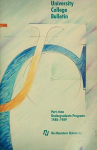 Illustrated cover of the 1988-1989 Part-time Undergraduate Programs Course Catalog