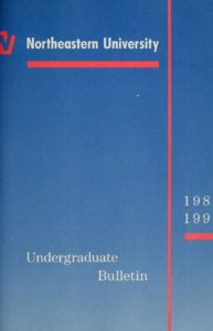 Blue colored cover page of the 1989-1990 Undergraduate Bulletin