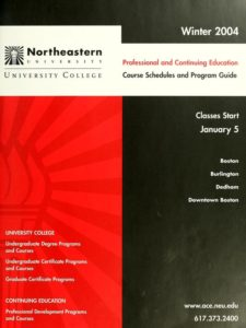 Red and Black colored cover page of the Winter 2004 Professional and Continuing Education Course Schedule and Program Guide