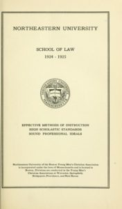 Parchment-colored title page of the 1924-1925 School of Law Course Catalog