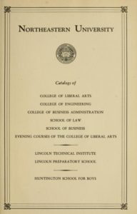Parchment-colored title page of the 1944, 1945, and 1946 Course Catalog College of Liberal Arts
