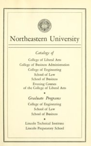 Parchment-colored title page of the 1951-1952 Course Catalogs