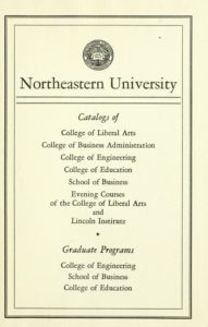 Parchment-colored title page of the 1954-1955 Course Catalogs