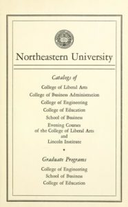 Parchment-colored title page of the 1955-1956 Course Catalogs