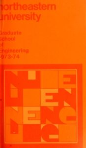Orange colored cover page of the 1973-1974 Graduate School ofEngineering