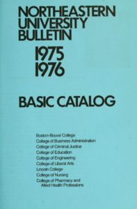 Blue-colored title page of the 1975-1976 Basic CourseBulletin
