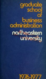 Multicolored cover page of the 1976-1978Graduate School of Business Administration Course Catalog