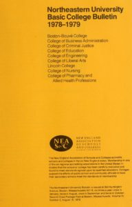 Yellow-colored title page of the 1978-1979 Basic CollegeBulletin