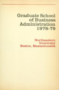 Parchment-colored title page of the 1978-1979 Graduate School of Business Administration