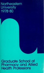 Multicolored cover of the 1978-1980 Graduate School of Pharmacy and Allied Health Professions Course Catalog