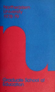 Multicolored cover page of the 1978-1989 Graduate School of Education Course Catalog