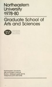 Parchment-colored title page of the 1978-1980 Graduate School of Arts and Sciences Course Catalog